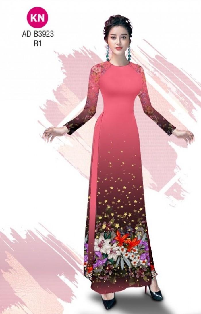 Vải áo dài độc đáo cho ngày tết 2020 của vải áo dài Kim ngọc ADKN B392315