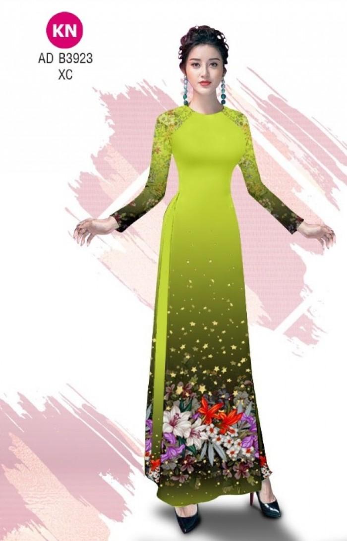 Vải áo dài độc đáo cho ngày tết 2020 của vải áo dài Kim ngọc ADKN B39236