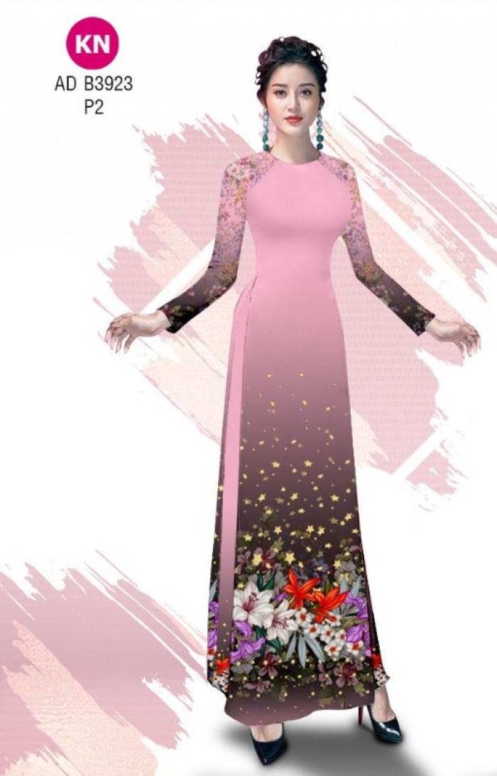 Vải áo dài độc đáo cho ngày tết 2020 của vải áo dài Kim ngọc ADKN B39234