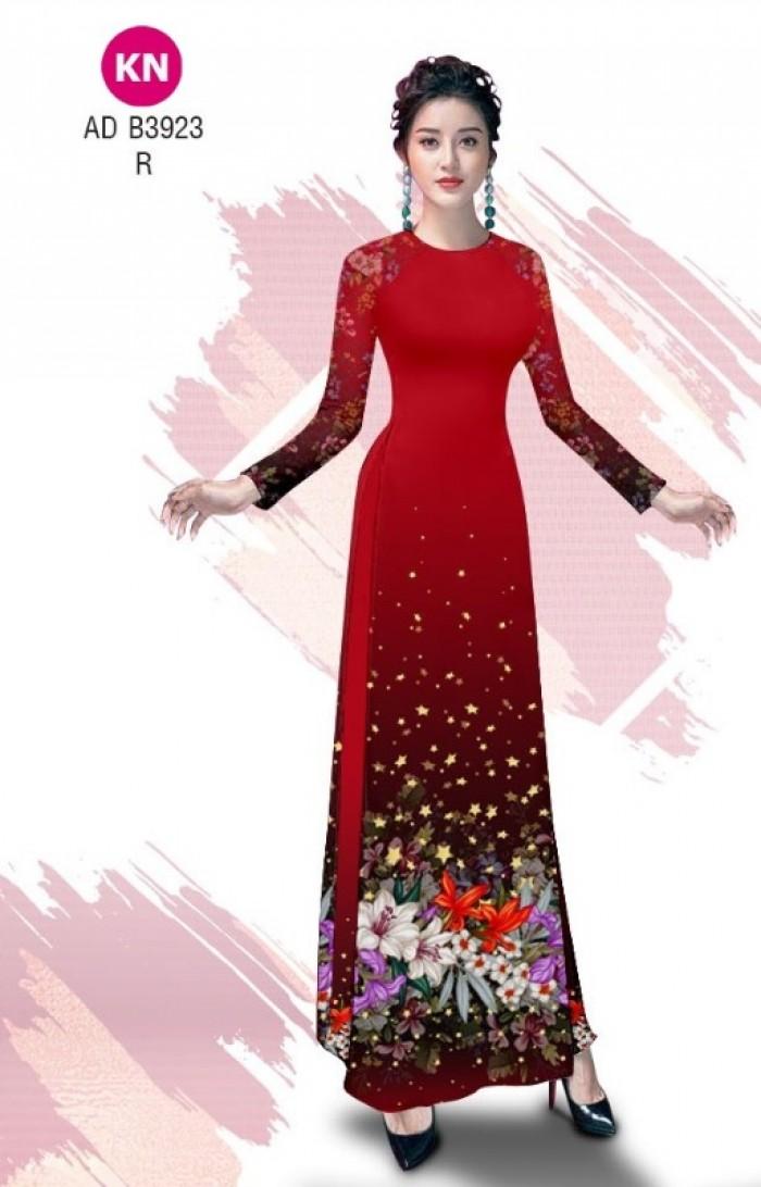 Vải áo dài độc đáo cho ngày tết 2020 của vải áo dài Kim ngọc ADKN B39238