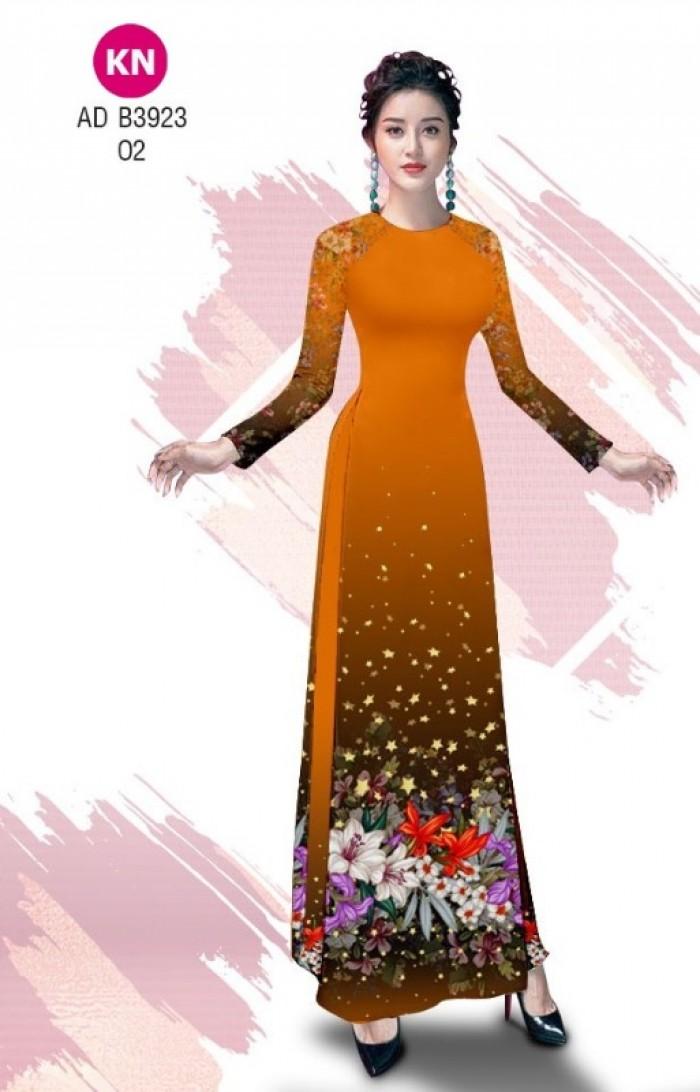 Vải áo dài độc đáo cho ngày tết 2020 của vải áo dài Kim ngọc ADKN B392313