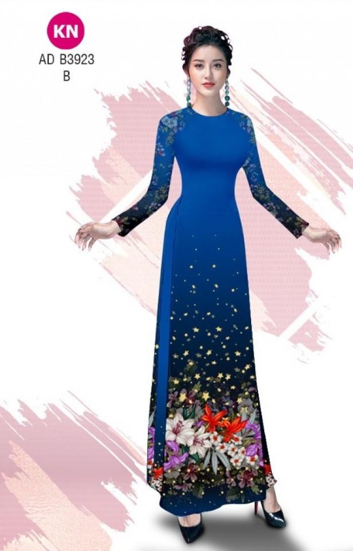 Vải áo dài độc đáo cho ngày tết 2020 của vải áo dài Kim ngọc ADKN B392317