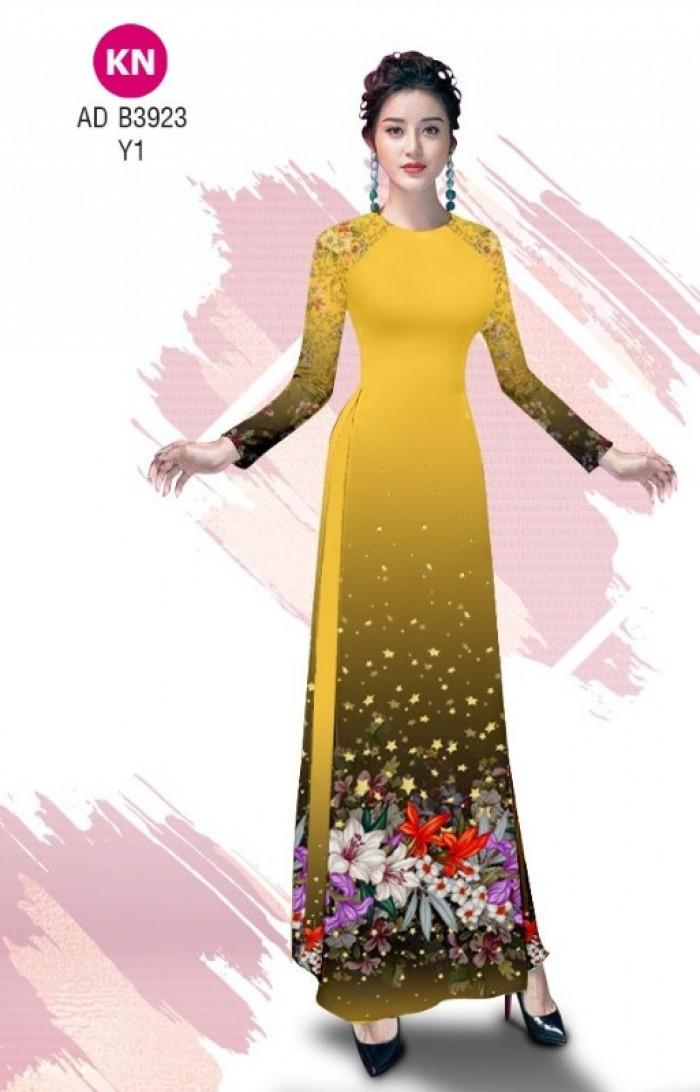 Vải áo dài độc đáo cho ngày tết 2020 của vải áo dài Kim ngọc ADKN B392310