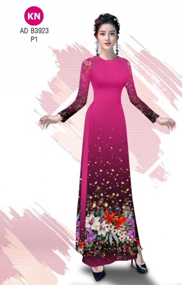 Vải áo dài độc đáo cho ngày tết 2020 của vải áo dài Kim ngọc ADKN B392316
