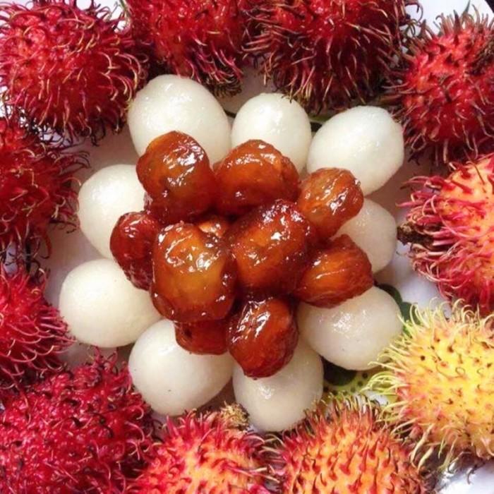 Hủ 500gr Mứt chôm chôm dẻo rim đường phèn ăn luôn hạt - Food by Mama2
