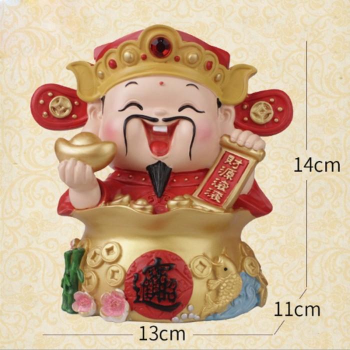 Tượng Chibi Thần Tài may mắn 14cm25