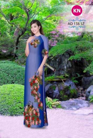 Vải áo dài đẹp in 3D 1381
