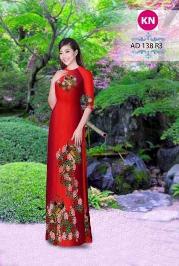 Vải áo dài đẹp in 3D 1382