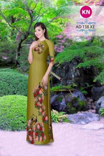 Vải áo dài đẹp in 3D 1383