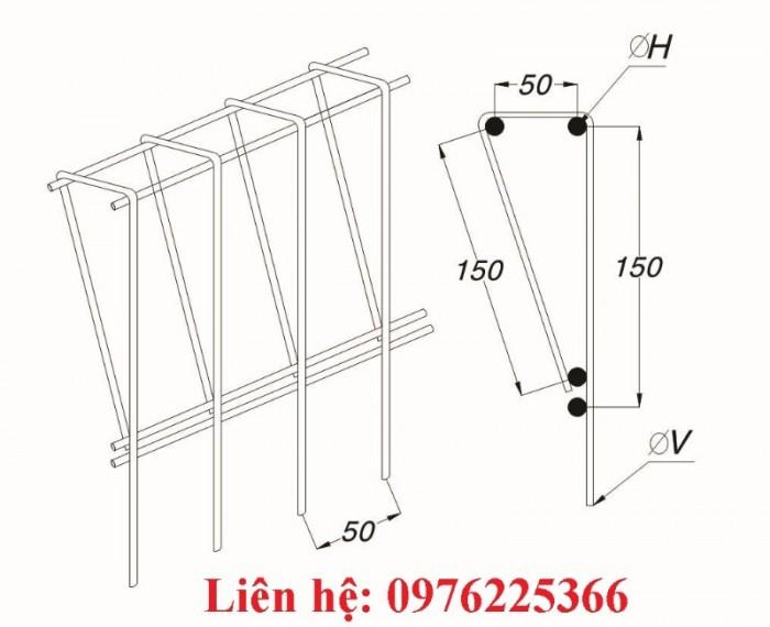 Lưới thép hàn D3/D4/D5/D6 ô 50x50, 50x1008