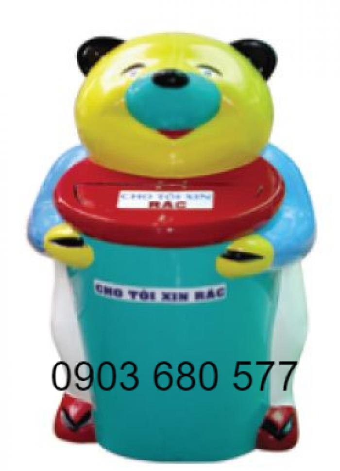 Chuyên bán thùng rác hình con thú đáng yêu cho trường mầm non, công viên, khu vui chơi2