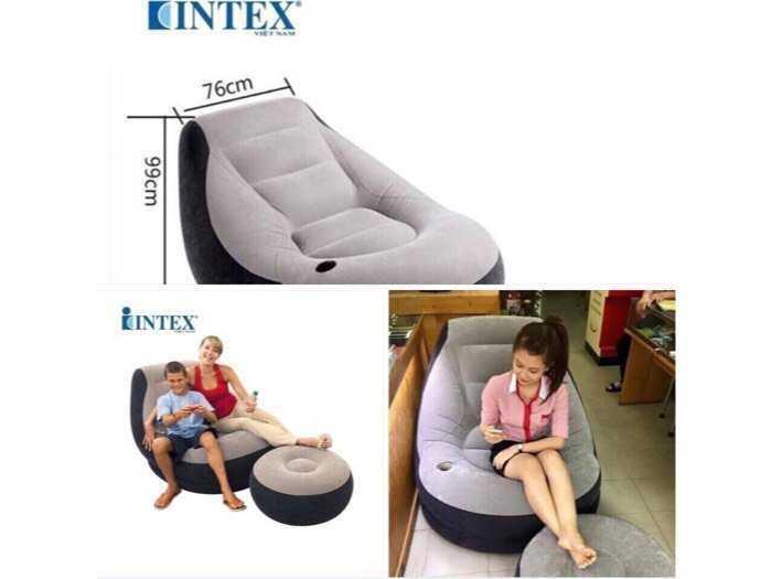 Ghế ngồi Hơi INTEX ( tặng kèm Bơm điện )3