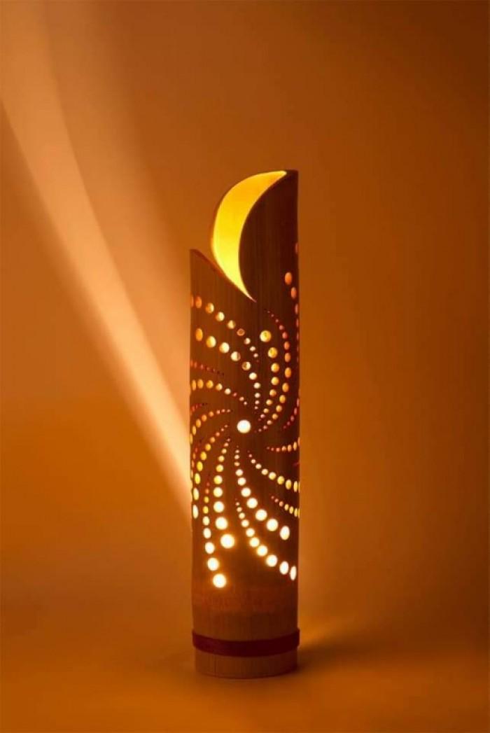 Bán đèn tre, sản xuất đèn bằng tre, đèn tre trang trí, đèn ngủ bằng tre4