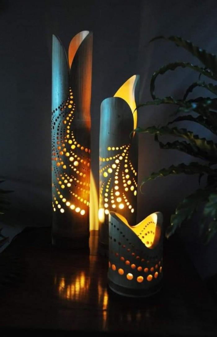 Bán đèn tre, sản xuất đèn bằng tre, đèn tre trang trí, đèn ngủ bằng tre5