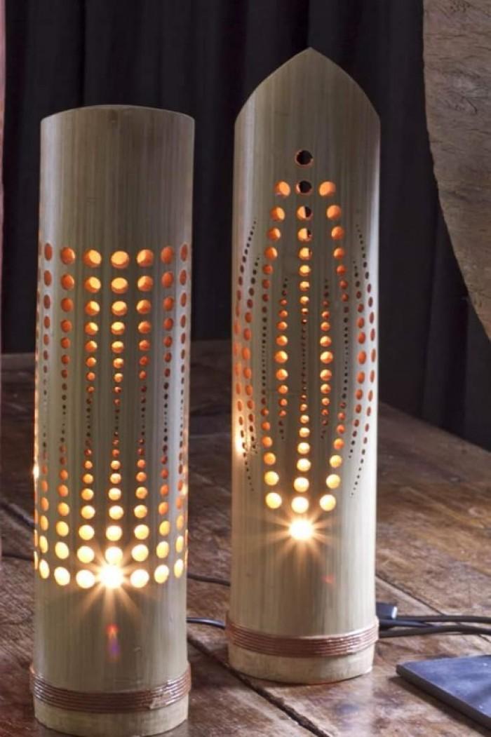 Bán đèn tre, sản xuất đèn bằng tre, đèn tre trang trí, đèn ngủ bằng tre6