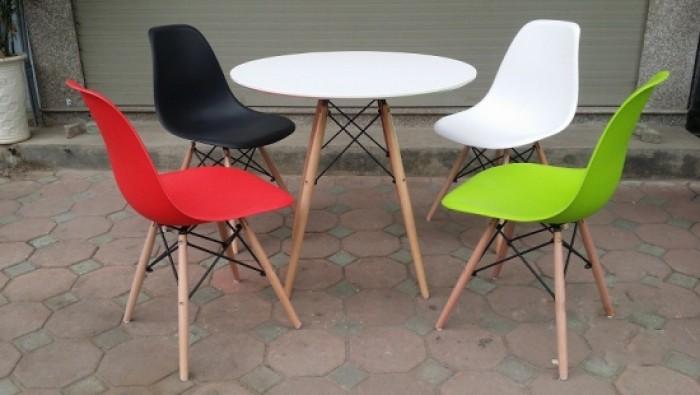 Thanh lý bộ bàn ghế nhựa chân gỗ giá rẻ sg0