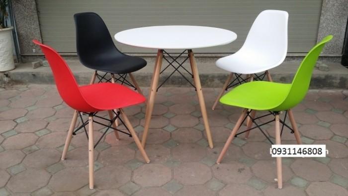 Thanh lý bộ bàn ghế nhựa chân gỗ giá rẻ sg6