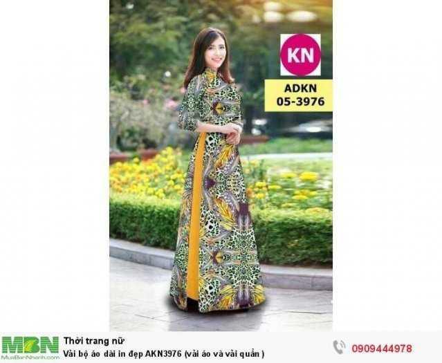 Vải bộ áo dài in đẹp AKN3976 (vải áo và vải quần )