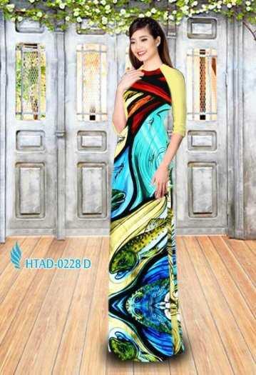Vải may áo dài hình hoa văn voan mát , mềm, mịn2