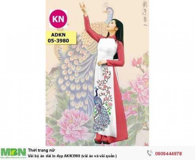 Vải bộ áo dài in đẹp AKN3980 (vải áo và vải quần )2