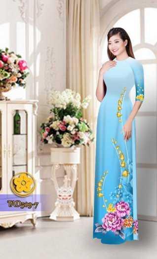 Vải áo dài hoa đẹp2