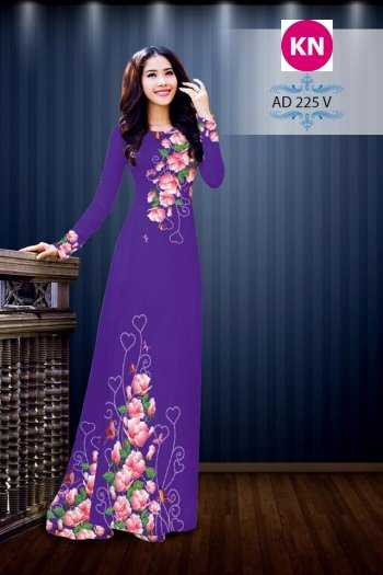 Vải áo dài đẹp in 3D 2250