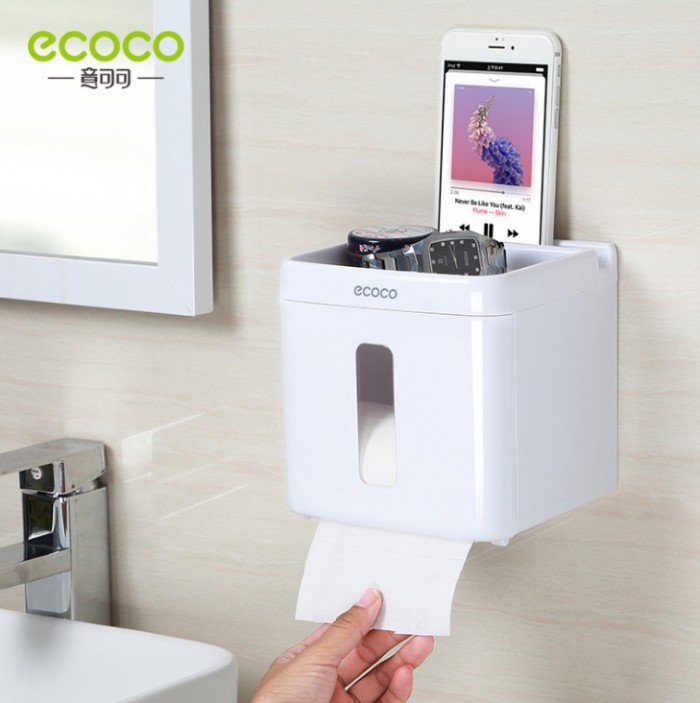 Lưu ý khi sử dụng hộp đựng giấy vệ sinh Ecoco – Keo chỉ sử dụng được trên các bề mặt phẳng, láng mịn, không gồ ghề như: gạch men, kính, gỗ… – Để đảm bảo keo dán được chắc chắn, vui lòng sử dụng kệ sau khi dán keo 24 giờ. – Bạn có thể dịch chuyển kệ sang vị trí khác bằng cách sử dụng máy sáy hơ keo dán để tháo gỡ miếng keo.