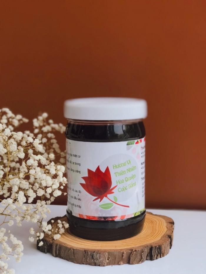 Siro hoa Atiso đỏ kèm hoa ngâm cực giòn