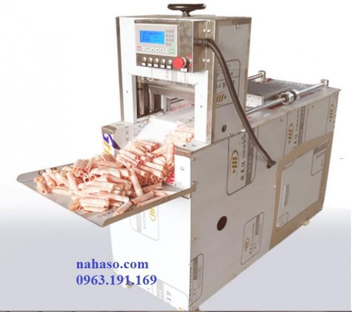 Máy thái thịt bò mỹ tự động công suất lớn0