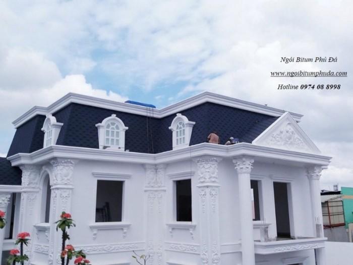Ngói bitum phủ đá cho mái nhà biệt thự1