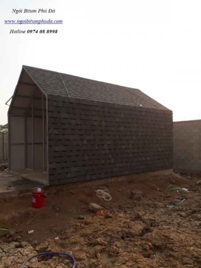 Ngói bitum phủ đá cho mái nhà biệt thự4