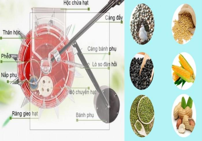 Máy trỉa đậu phộng đa năng TGF127