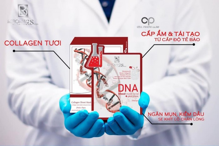 Mặt Nạ Huyết Tương Với DNA Và Collagen Chiết Suất Từ Thực Vật Mặt Nạ Huyết Tương Thực Vật DNA 2
