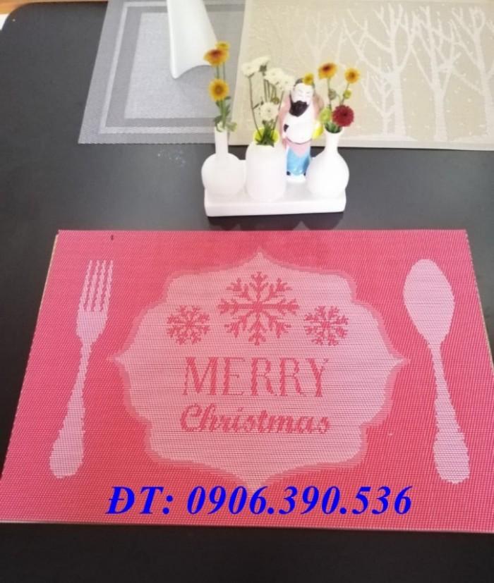 Tấm lót trang trí bàn ăn, lót ly , chén, dĩa mẫu mới cho giáng sinh và tết3