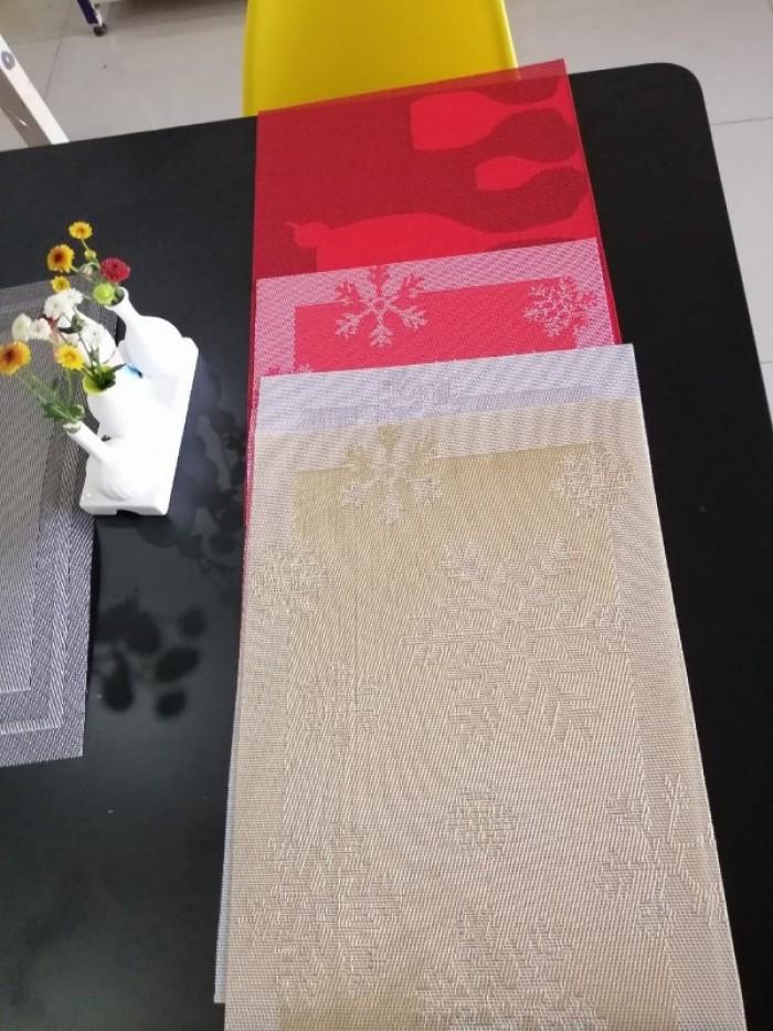 Tấm lót trang trí bàn ăn, lót ly , chén, dĩa mẫu mới cho giáng sinh và tết5