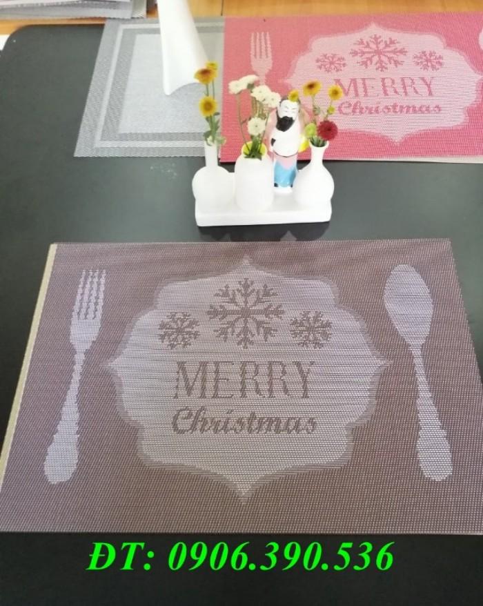 Tấm lót trang trí bàn ăn, lót ly , chén, dĩa mẫu mới cho giáng sinh và tết6