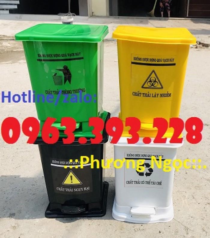 Thùng rác y tế đạp chân, thùng chứa rác thải lây nhiễm, thùng đựng rác thải y tế1