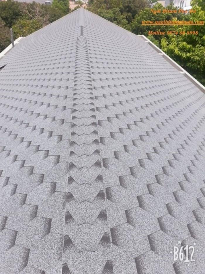 Vật liệu lợp mái ngói bitum phủ đá8