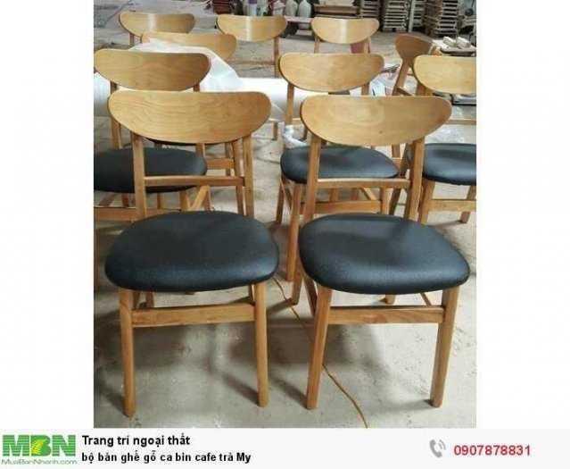 Bộ bàn ghế gỗ ca bin cafe trà My0