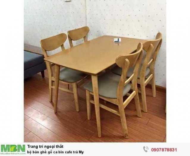 Bộ bàn ghế gỗ ca bin cafe trà My2