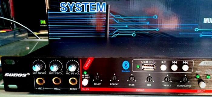 - Vang karaoke K-600 III được trang bị chế độ feedback (chống hú), Optical, bluetooth xa đến 10m.1