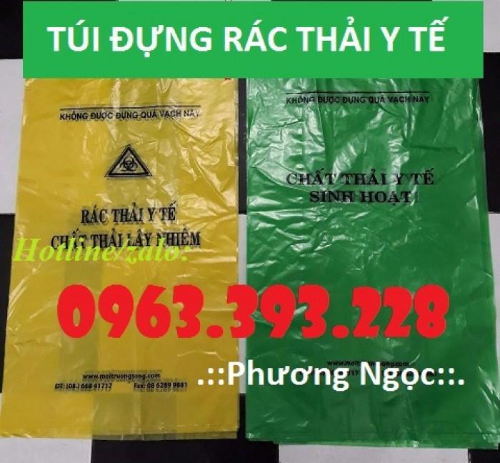 Túi đựng rác thải y tế, bao gom rác thải y tế, túi rác y tế tự hủy1