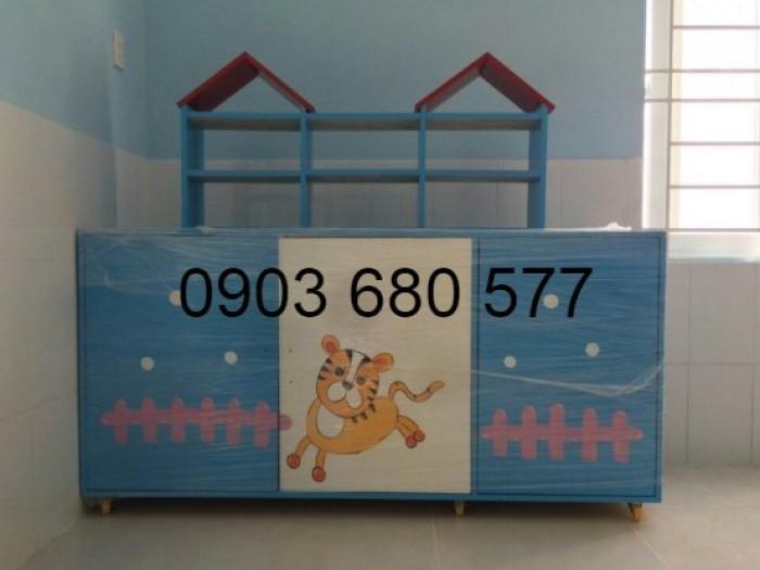 Chuyên bán tủ gỗ, tủ nhựa dành cho trường mầm non, lớp mẫu giáo, gia đình1