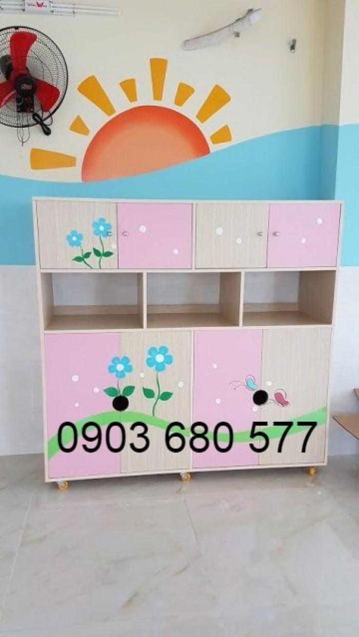 Chuyên bán tủ gỗ, tủ nhựa dành cho trường mầm non, lớp mẫu giáo, gia đình5