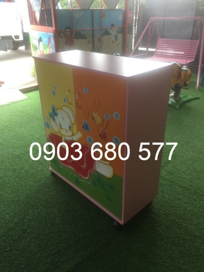 Chuyên bán tủ gỗ, tủ nhựa dành cho trường mầm non, lớp mẫu giáo, gia đình24