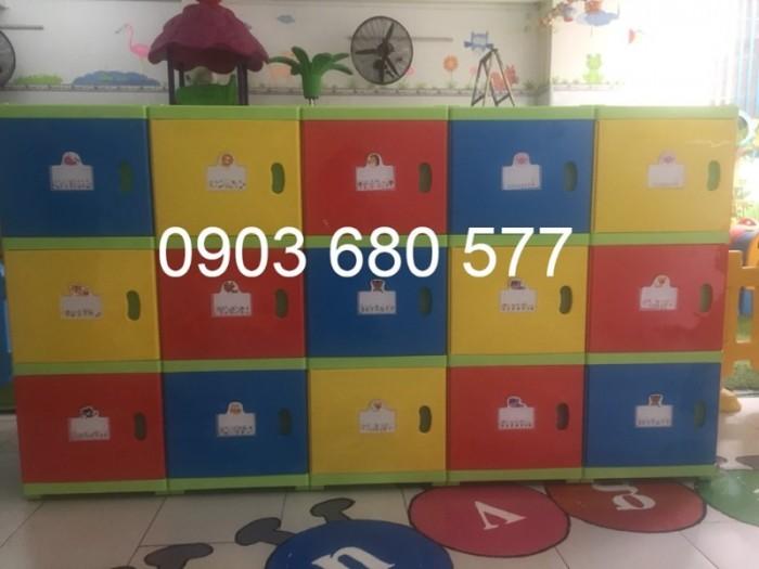 Chuyên bán tủ gỗ, tủ nhựa dành cho trường mầm non, lớp mẫu giáo, gia đình8