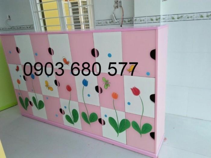 Chuyên bán tủ gỗ, tủ nhựa dành cho trường mầm non, lớp mẫu giáo, gia đình12