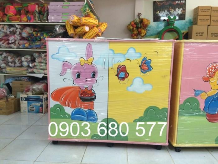 Chuyên bán tủ gỗ, tủ nhựa dành cho trường mầm non, lớp mẫu giáo, gia đình15