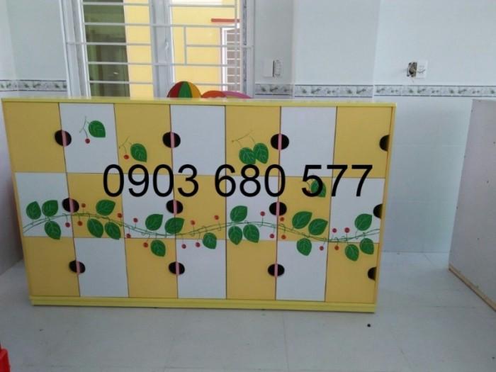 Chuyên bán tủ gỗ, tủ nhựa dành cho trường mầm non, lớp mẫu giáo, gia đình21