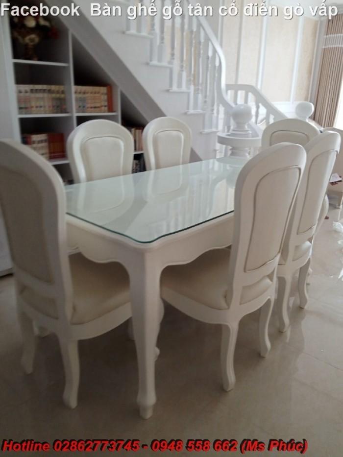 bàn ăn cổ điển màu trắng Bình Thạnh11
